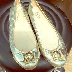 Coach ballet flats shoes